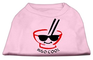 Miso Cool Screen Print Shirts Pink Med (12)
