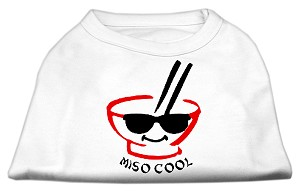 Miso Cool Screen Print Shirts White XXL (18)