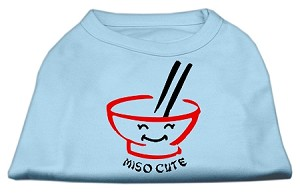 Miso Cute Screen Print Shirts Baby Blue Med (12)