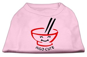 Miso Cute Screen Print Shirts Pink XXL