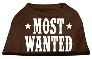 Most Wanted Screen Print Shirt Brown XS (8)