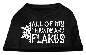 All my friends are Flakes Screen Print Shirt Black XL (16)