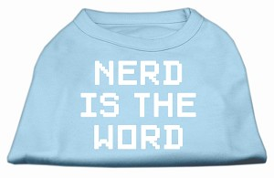 Nerd is the Word Screen Print Shirt Baby Blue XXL (18)