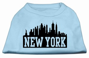 New York Skyline Screen Print Shirt Baby Blue XL (16)