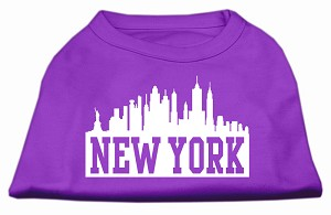 New York Skyline Screen Print Shirt Purple Sm (10)