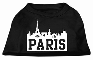 Paris Skyline Screen Print Shirt Black Lg (14)