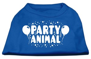 Party Animal Screen Print Shirt Blue Med (12)