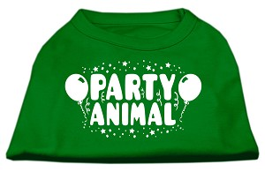 Party Animal Screen Print Shirt Emerald Green XXL (18)