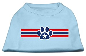 Patriotic Star Paw Screen Print Shirts Baby Blue S (10)