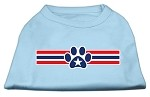 Patriotic Star Paw Screen Print Shirts Baby Blue S
