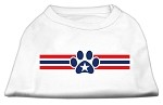 Patriotic Star Paw Screen Print Shirts White S