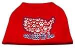 God Bless USA Screen Print Shirts Red S