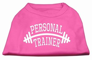 Personal Trainer Screen Print Shirt Bright Pink XL (16)