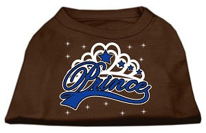 I'm a Prince Screen Print Shirts Brown Sm (10)