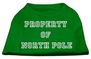 Property of North Pole Screen Print Shirts Emerald Green Lg (14)