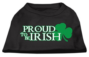 Proud to be Irish Screen Print Shirt Black Sm (10)