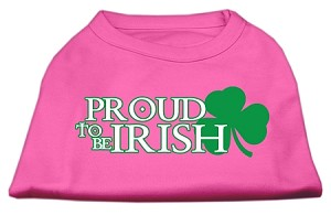 Proud to be Irish Screen Print Shirt Bright Pink Sm (10)