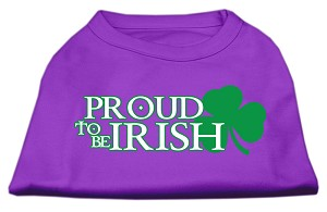 Proud to be Irish Screen Print Shirt Purple XL (16)