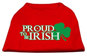Proud to be Irish Screen Print Shirt Red XS (8)