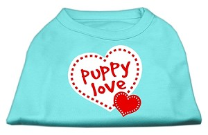Puppy Love Screen Print Shirt Aqua Sm (10)
