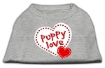 Puppy Love Screen Print Shirt Grey XS