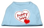 Puppy Love Screen Print Shirt Baby Blue XS