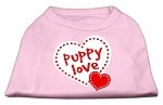 Puppy Love Screen Print Shirt Light Pink XS