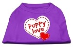 Puppy Love Screen Print Shirt Purple XS