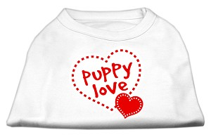 Puppy Love Screen Print Shirt White Sm (10)