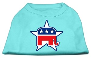 Republican Screen Print Shirts Aqua XS (8)
