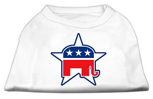 Republican Screen Print Shirts White XL