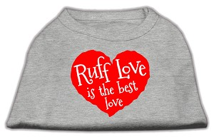 Ruff Love Screen Print Shirt Grey Med (12)