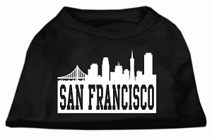 San Francisco Skyline Screen Print Shirt Black Lg (14)