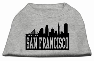 San Francisco Skyline Screen Print Shirt Grey XXL