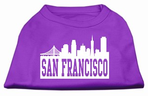 San Francisco Skyline Screen Print Shirt Purple Lg (14)