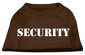 Security Screen Print Shirts Brown XL (16)