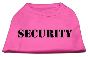 Security Screen Print Shirts Bright Pink w/ black text XS (8)
