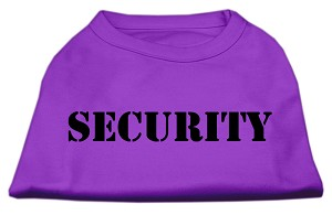 Security Screen Print Shirts Purple w/ white text XS (8)