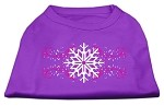 Pink Snowflake Swirls Screenprint Shirts Purple XS
