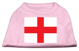 St. George's Cross (English Flag) Screen Print Shirt Light Pink XXL (18)
