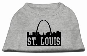 St Louis Skyline Screen Print Shirt Grey XXL (18)