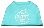 Teachers Pet Screen Print Shirt Aqua XS (8)