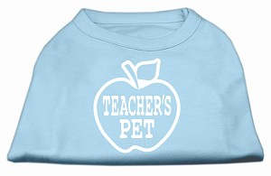 Teachers Pet Screen Print Shirt Baby Blue XXL (18)