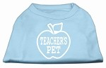 Teachers Pet Screen Print Shirt Baby Blue XS (8)