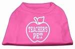 Teachers Pet Screen Print Shirt Bright Pink XS (8)