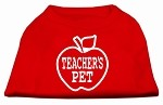 Teachers Pet Screen Print Shirt Red XS (8)