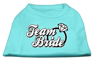 Team Bride Screen Print Shirt Aqua Sm (10)