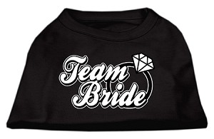 Team Bride Screen Print Shirt Black Med (12)