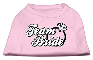 Team Bride Screen Print Shirt Light Pink XS (8)
