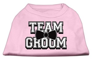 Team Groom Screen Print Shirt Light Pink Med